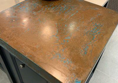 Aged Copper Kitchen Worktop