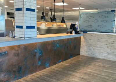 Fish & Chip Shop Counters in St. Column Cornwall
