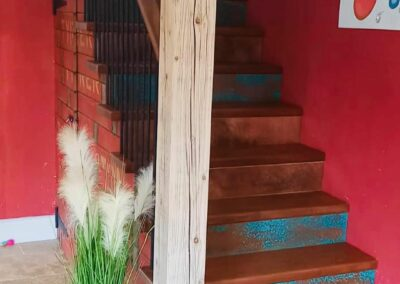 aged copper verdigris stair plates