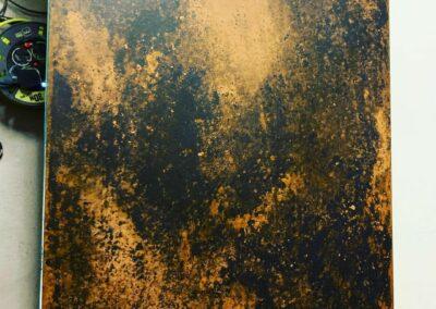antiqued brass sheet