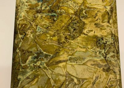 stained glass effect aged brass metal sheet