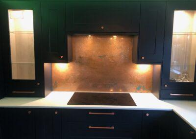 copper kitchen splashback